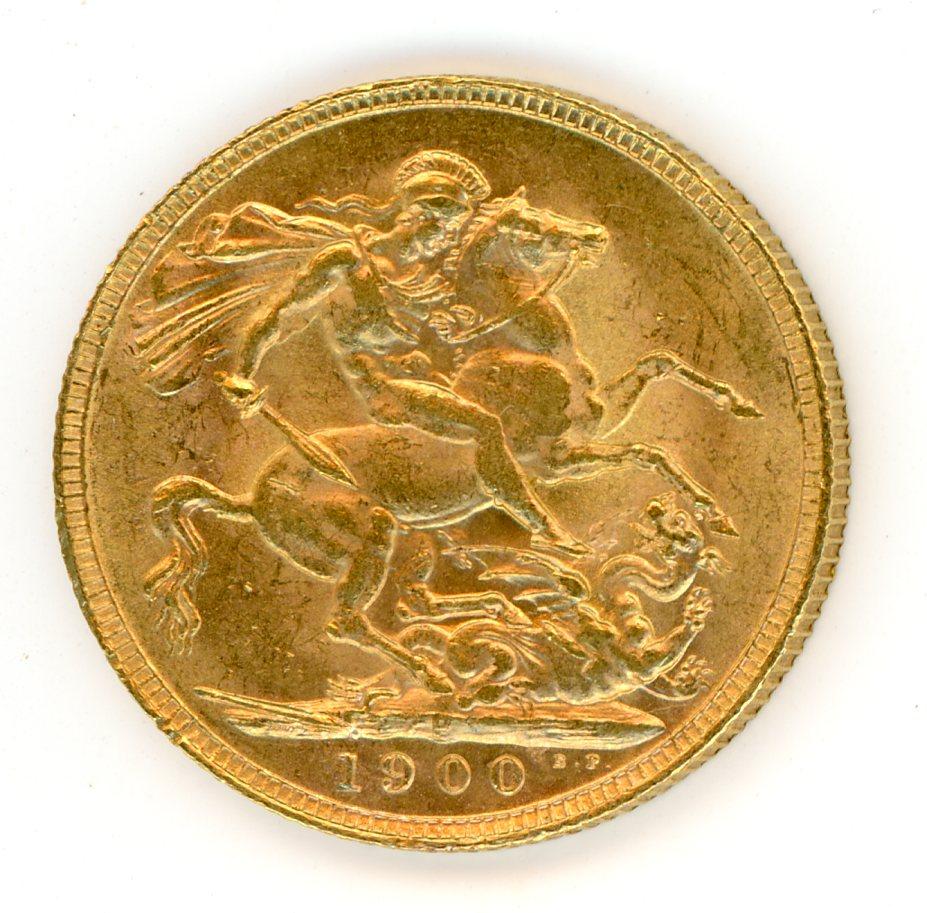 Thumbnail for 1900P Australian Veil Head Gold Sovereign