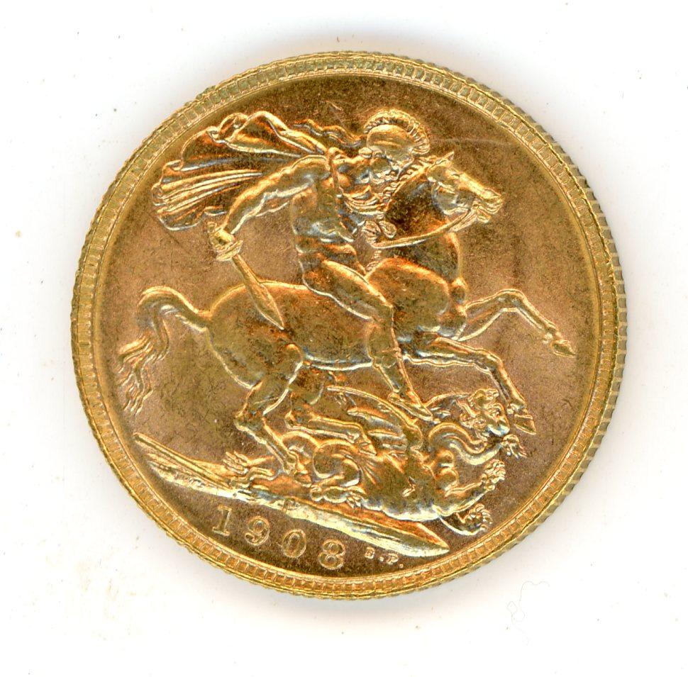 Thumbnail for 1908P Australian Edward VII Gold Sovereign