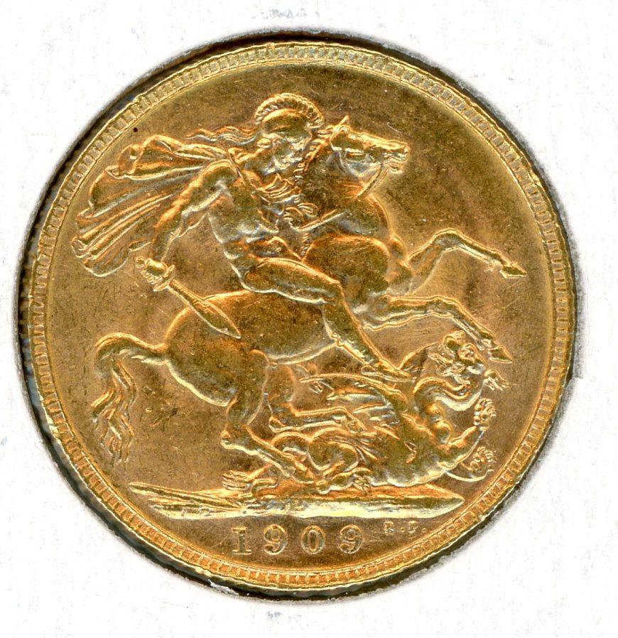 Thumbnail for 1909P Australian Edward VII Gold Sovereign