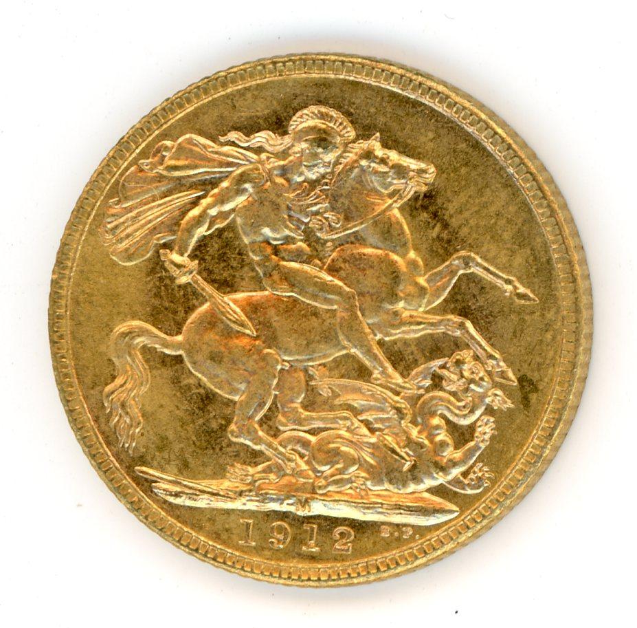 Thumbnail for 1912M Australian George V Gold Sovereign