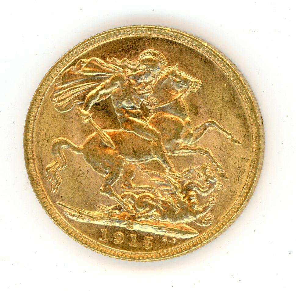 Thumbnail for 1915M Australian George V Gold Sovereign (B)