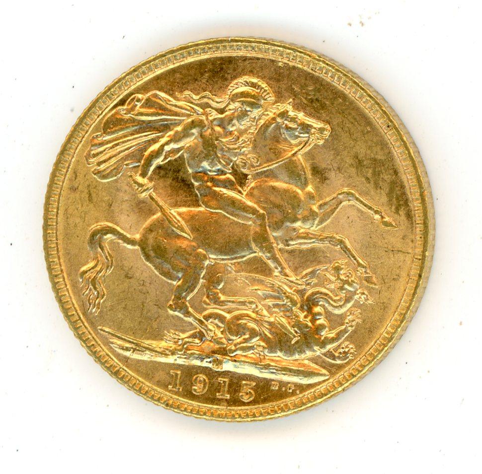 Thumbnail for 1915M Australian George V Gold Sovereign (C)