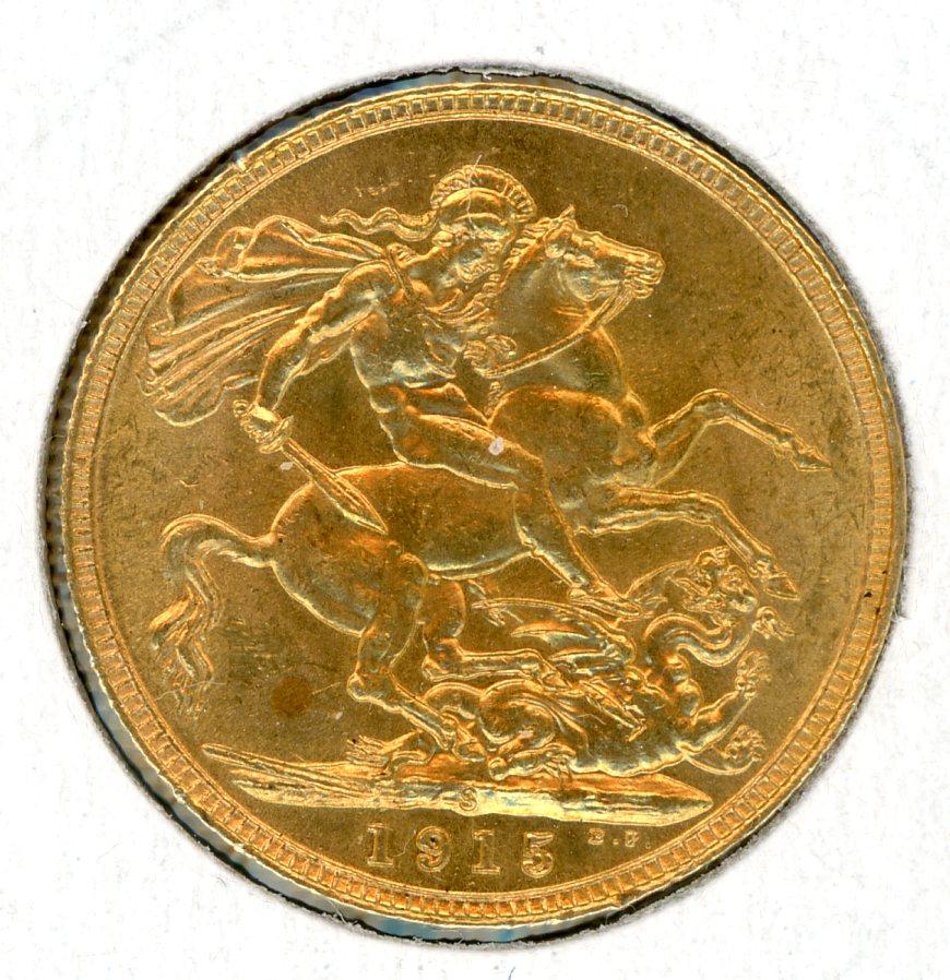 Thumbnail for 1915S Australian George V Gold Sovereign