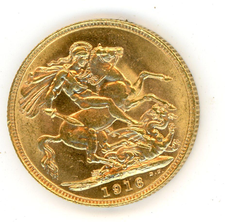 Thumbnail for 1916P Australian George V Gold Sovereign