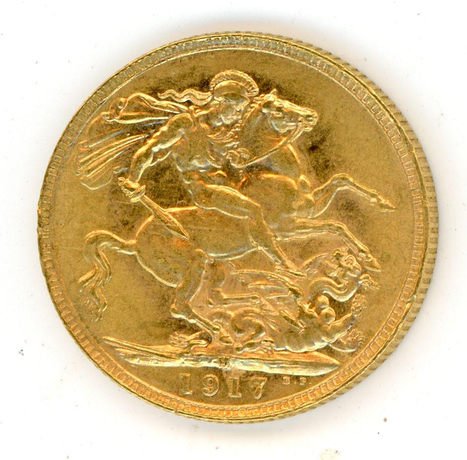 Thumbnail for 1917M Australian George V Gold Sovereign