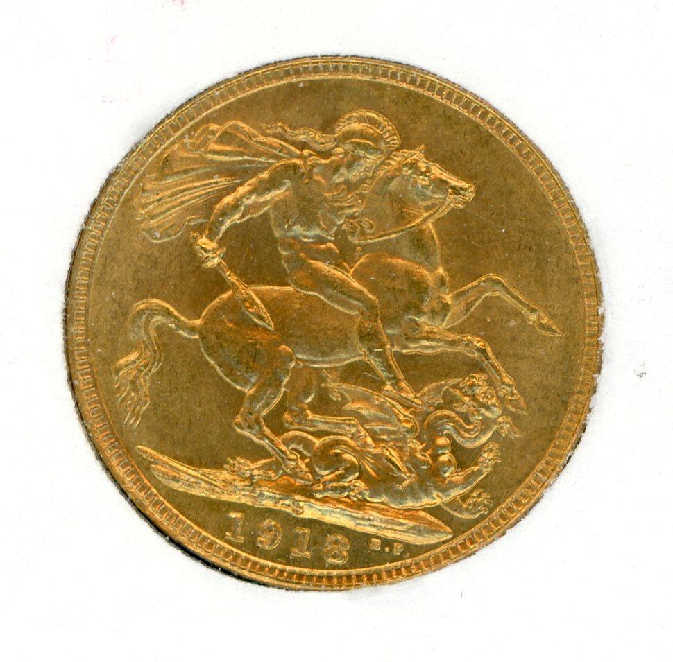 Thumbnail for 1918S Australian George V Gold Sovereign