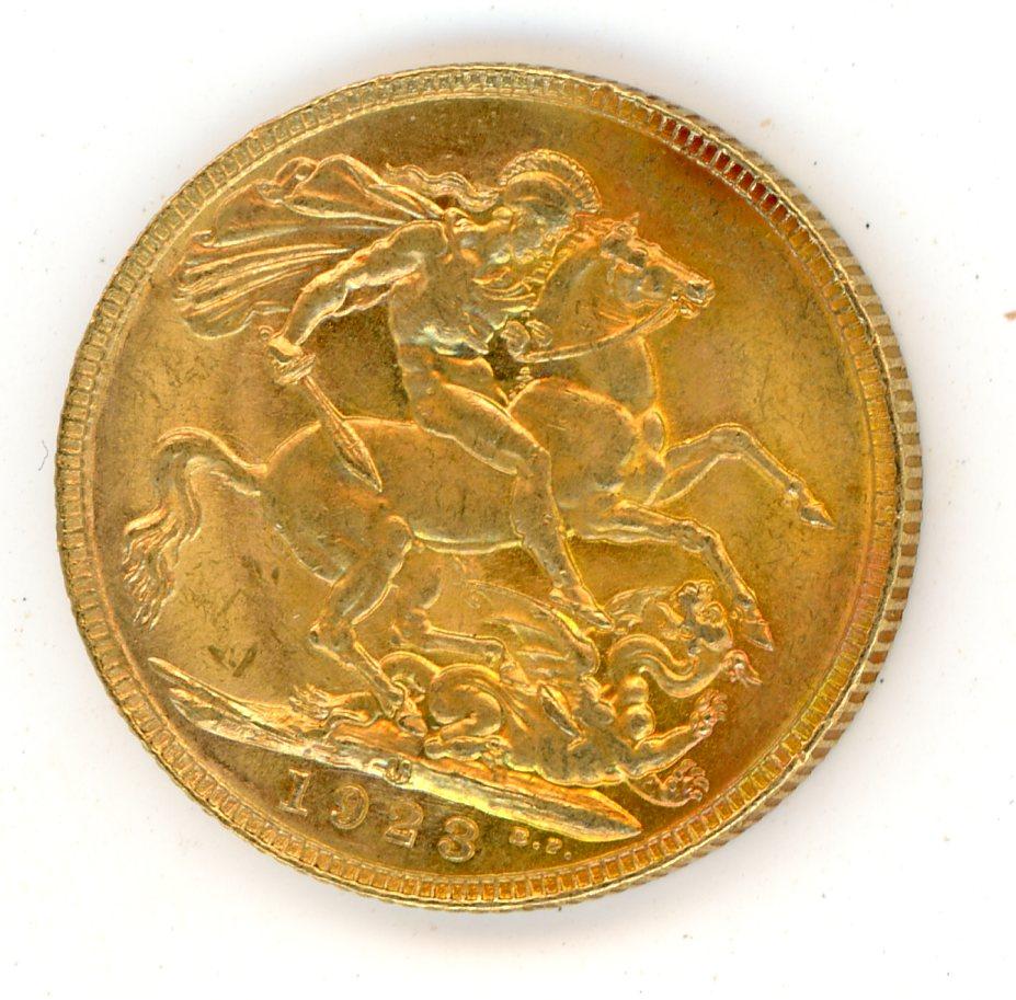 Thumbnail for 1923M Australian George V Gold Sovereign