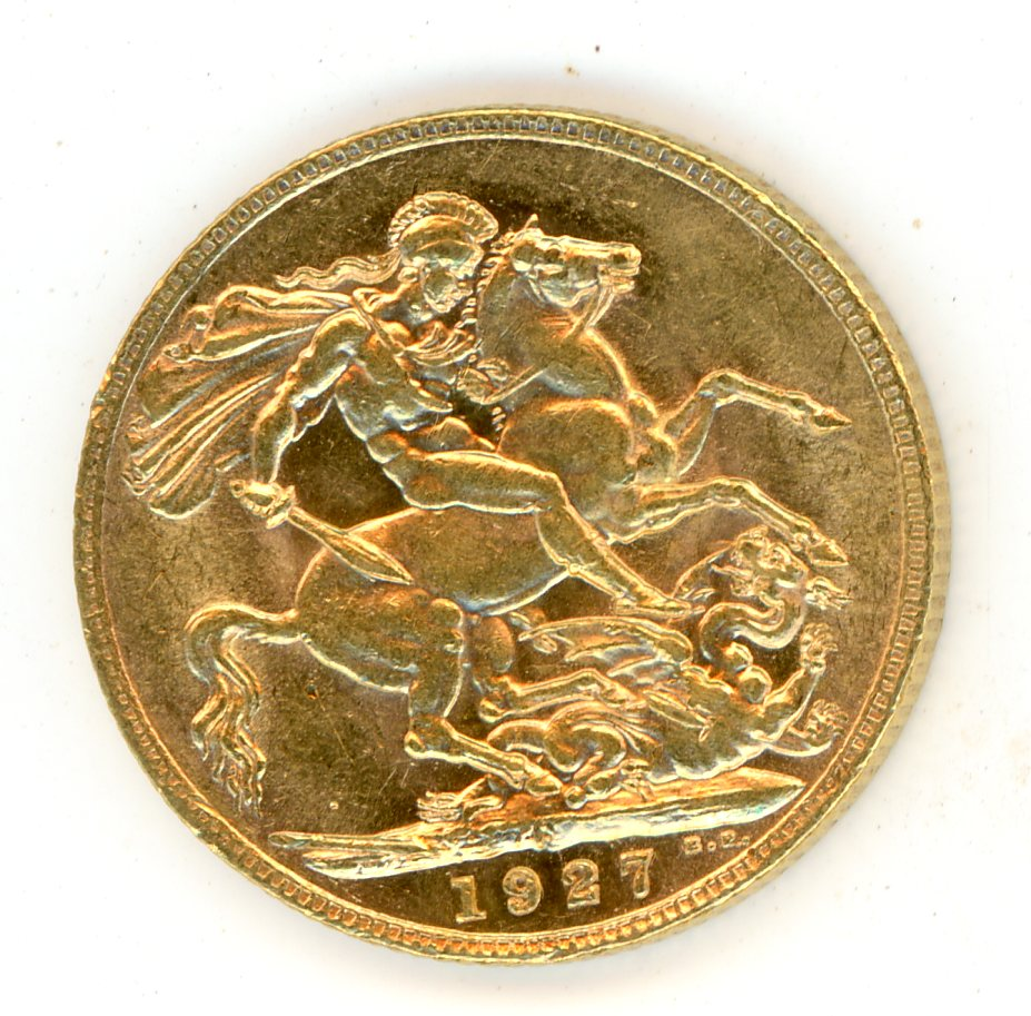 Thumbnail for 1927P Australian George V Gold Sovereign