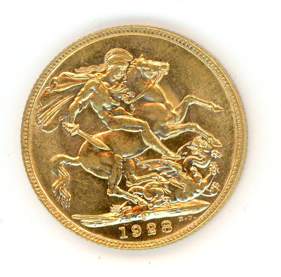 Thumbnail for 1928P Australian George V Gold Sovereign