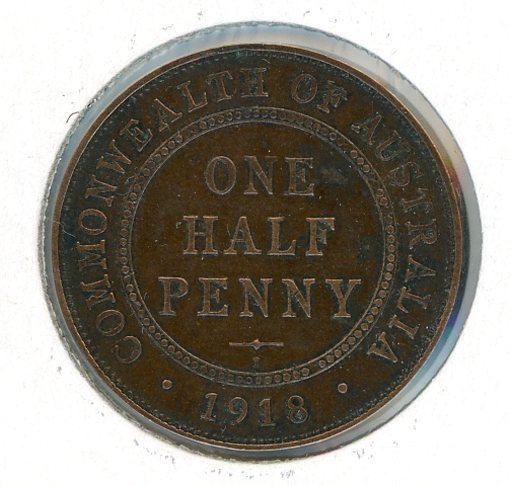 Thumbnail for 1918 Australian Half Penny VF