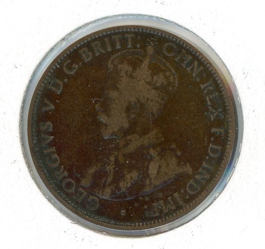 1918 Australian Half Penny Af