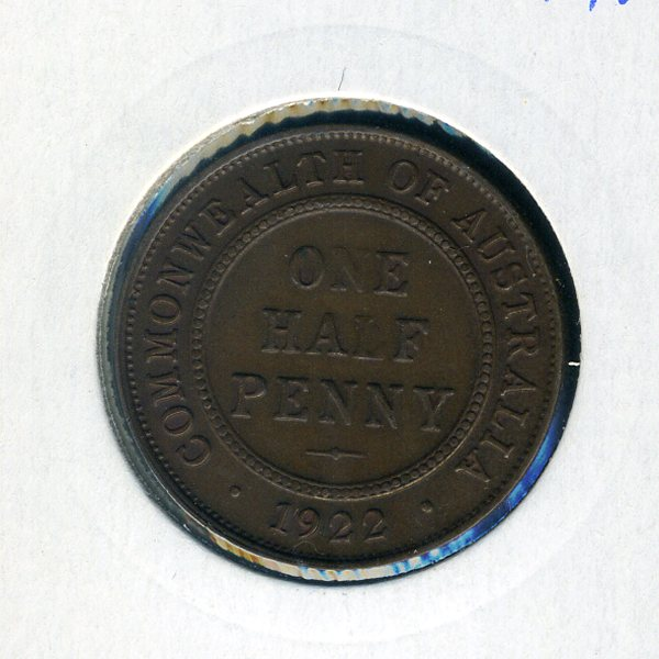 Thumbnail for 1922 Half Penny gEF