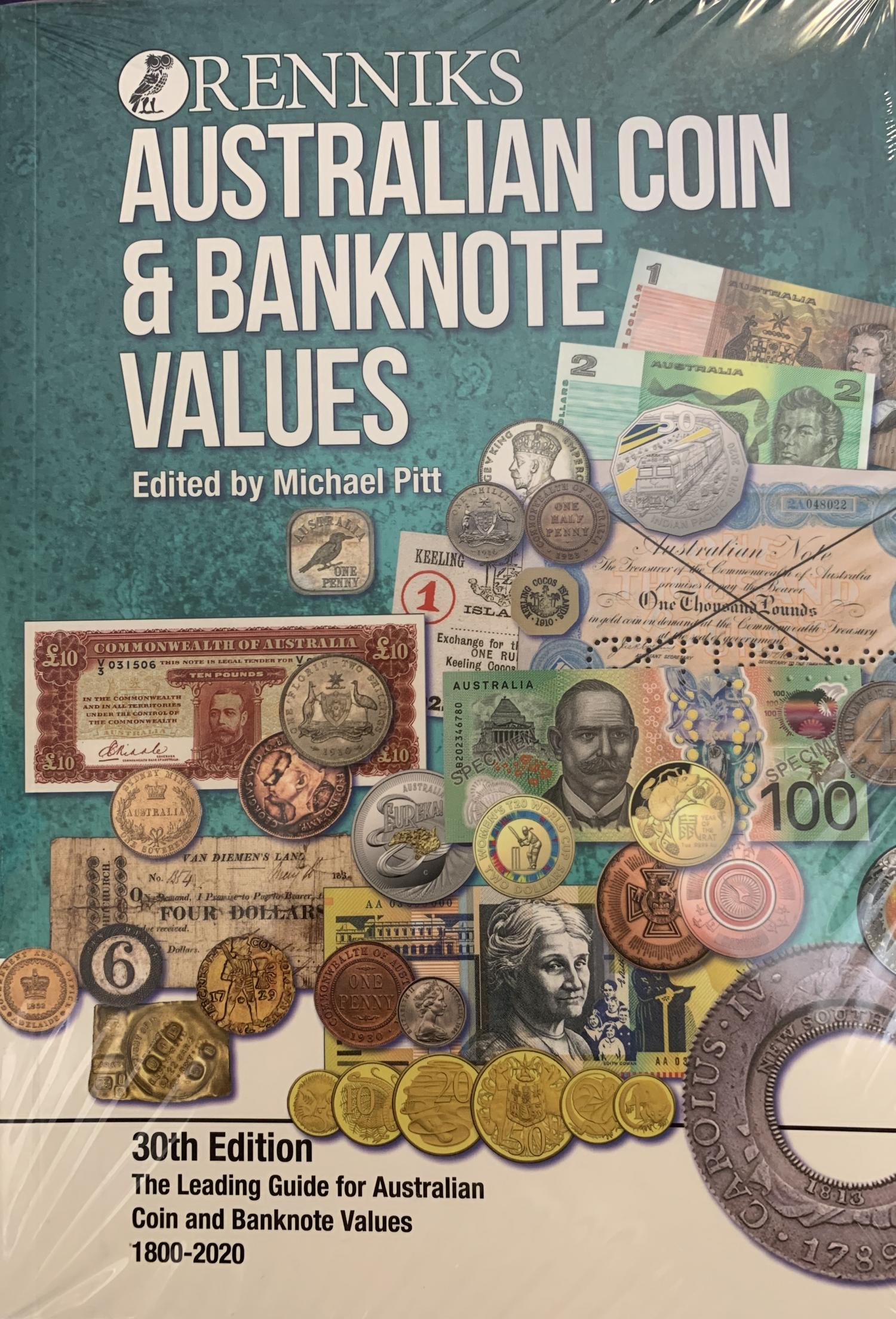 Thumbnail for 2020 Renniks Australian Coin & Banknote Values 30th Edition 1800-2020 Softcover Book
