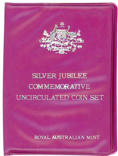 Thumbnail for 1977 Australian Mint Set In Purple Wallet