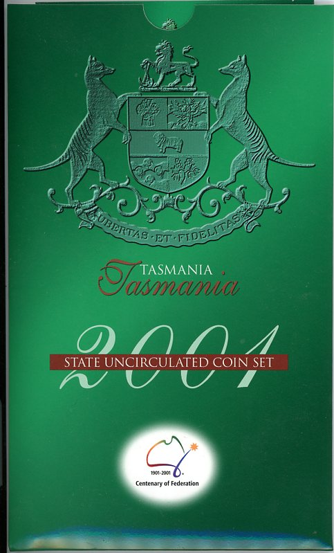 Thumbnail for 2001 Centenary of Federation Three Coin Mint Set - Tasmania