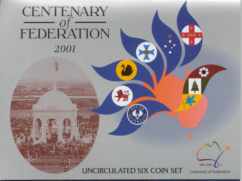 Thumbnail for 2001 Centenary of Federation Six Coin Mint Set