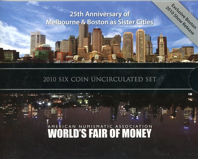 Thumbnail for 2010 Six Coin Mint Set - Boston World Money Fair