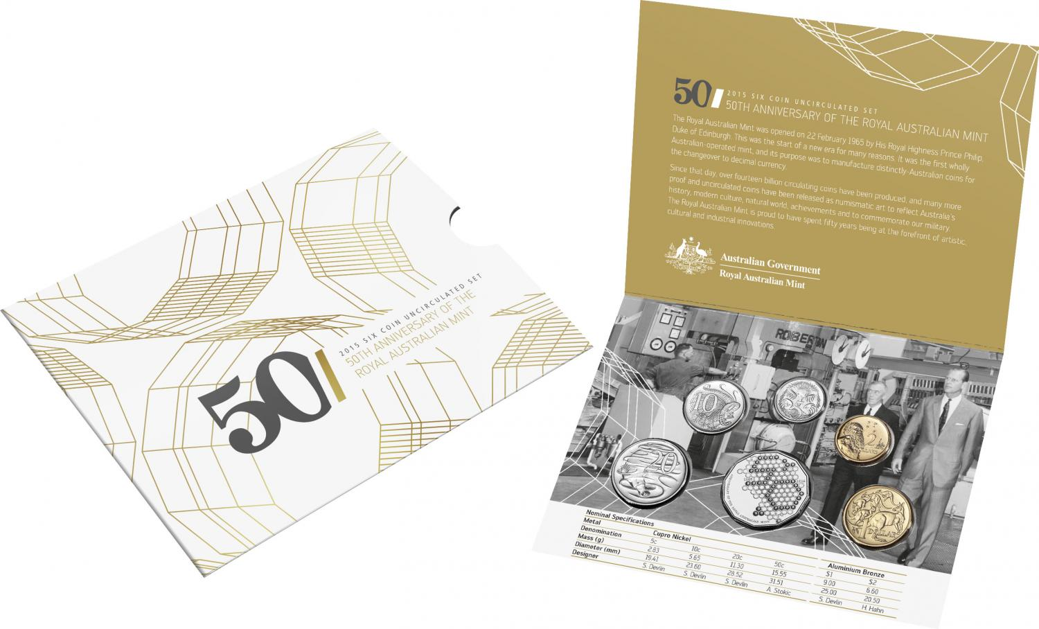 Thumbnail for 2015 Six Coin Mint Set - 50th Anniversary of The Royal Australian Mint