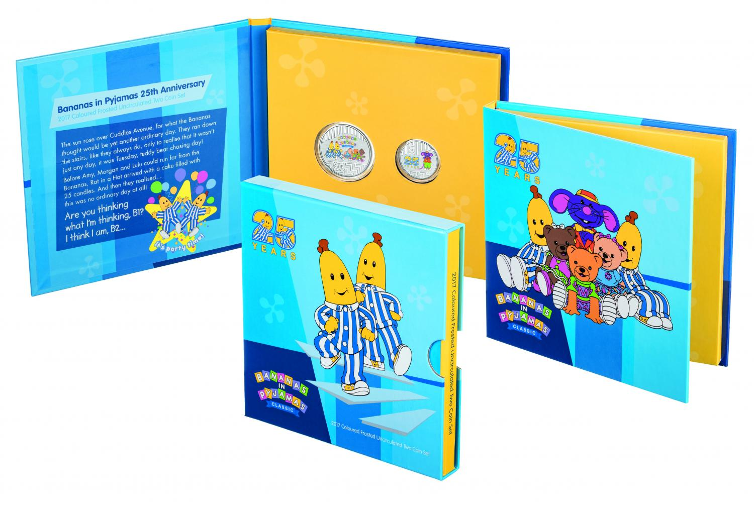 Thumbnail for 2017 Bananas in Pyjamas Coloured Frosted Uncirculated Two Coin Set