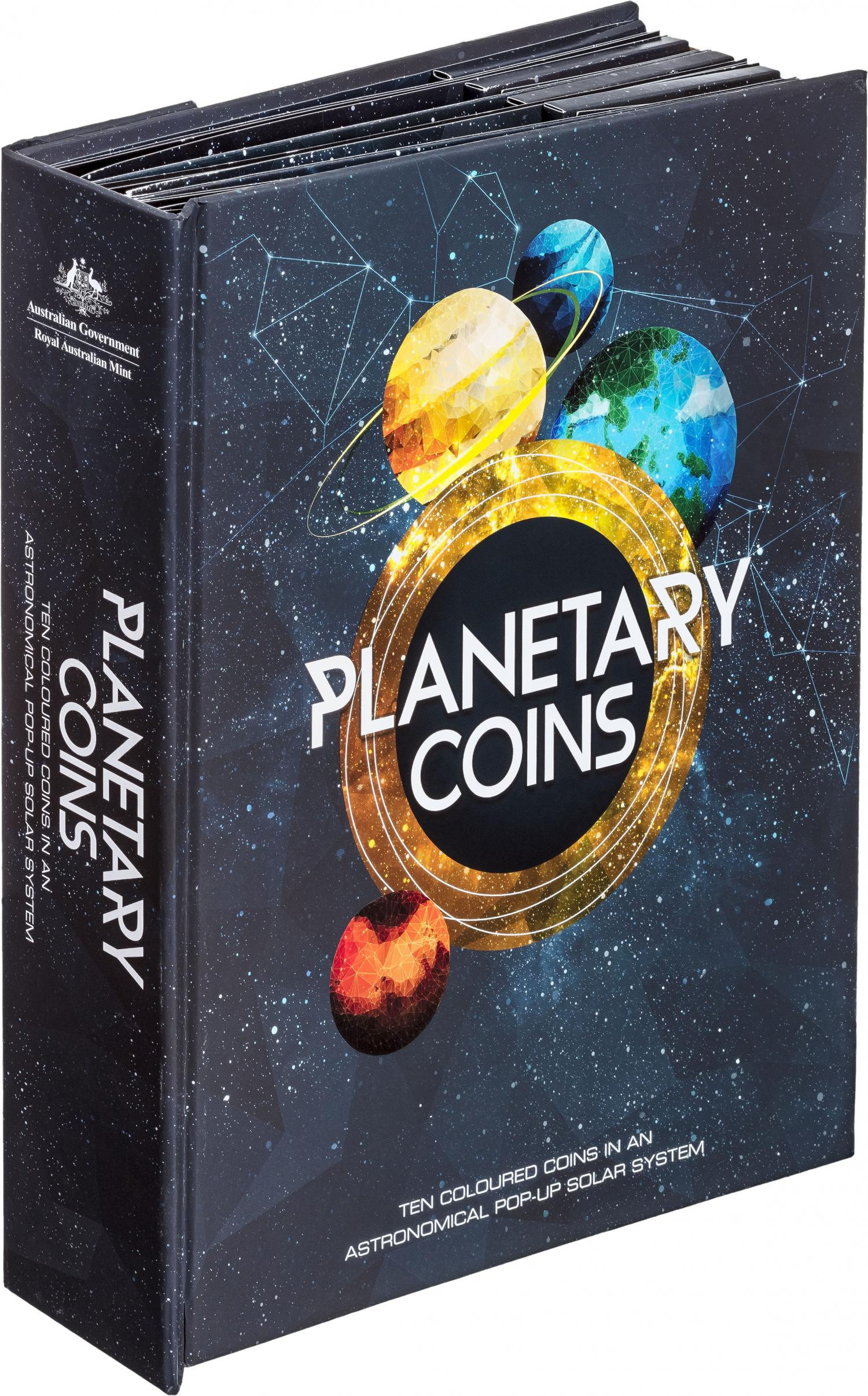 Thumbnail for 2017 Planetary Coin Set - Set of 10 Coloured Uncirculated Coins in Pop up Album