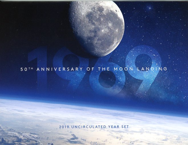 Thumbnail for 2019 50th Anniversary of the Moon Landing UNC Year Set