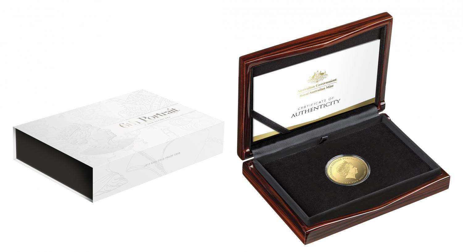 Thumbnail for 2019 $200 2oz Gold Proof Coin The Sixth Effigy Her Majesty Queen Elizabeth II
