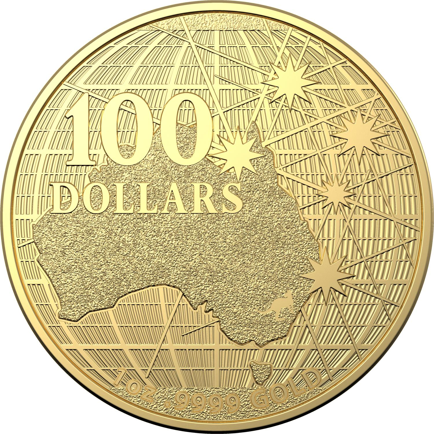 Thumbnail for 2020 $1 Beneath The Southern Skies Gold 99.9%Au 1oz Brilliant UNC Coin in Capsule