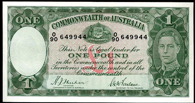 Thumbnail for 1938 One Pound Note  Sheehan - McFarlane O90 649944 VF