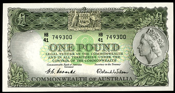 Thumbnail for 1953 One Pound Note Coombs - Wilson HB41 749300 gEF