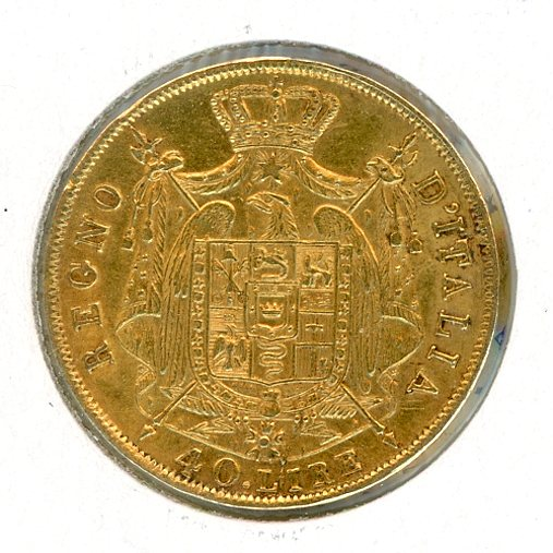 Thumbnail for 1814 Italy Gold 40 Lire