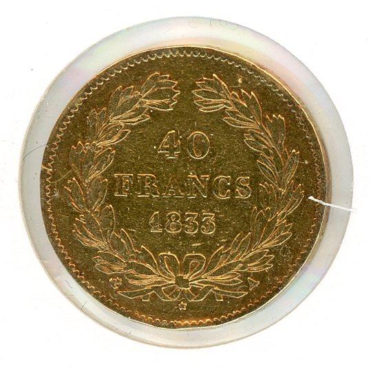 Thumbnail for 1833 France Gold 40 Francs
