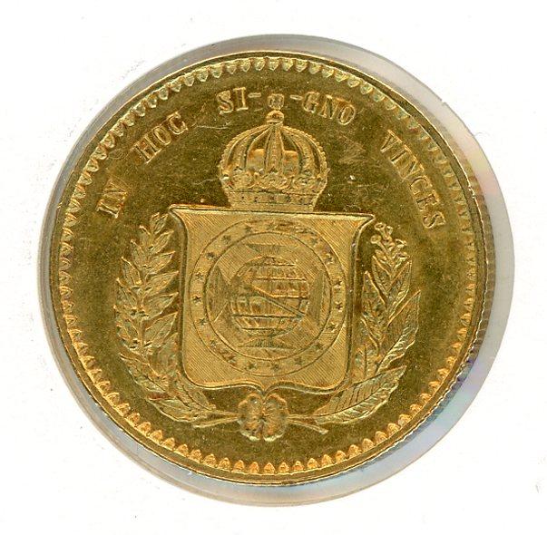 Thumbnail for 1851 Brazil Gold 20,000 Reis