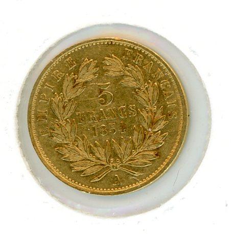 Thumbnail for 1854 France Gold 5 Franc