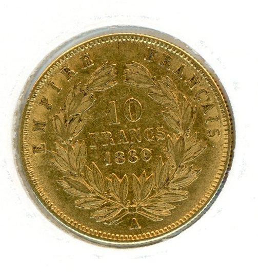 Thumbnail for 1860A France Gold 10 Francs