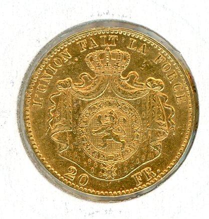 Thumbnail for 1867 Belgium Gold 20 Francs