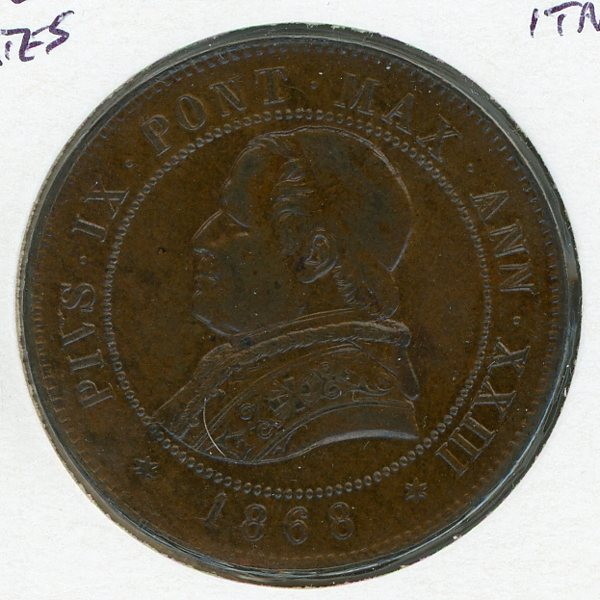 Thumbnail for 1868 Italy Papal States 4 Soldi aUNC