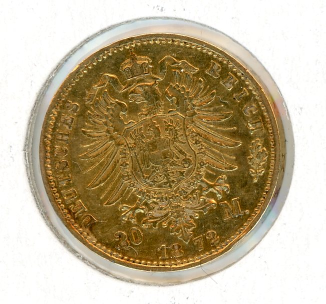 Thumbnail for 1872 German Gold 20 Marks