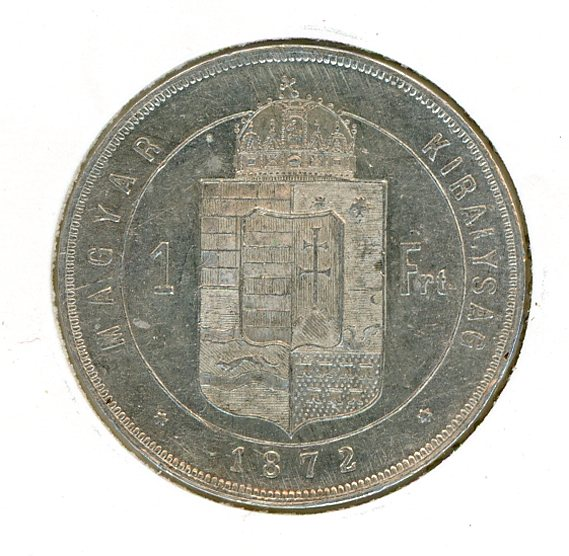 Thumbnail for 1872 Hungary One Forint EF