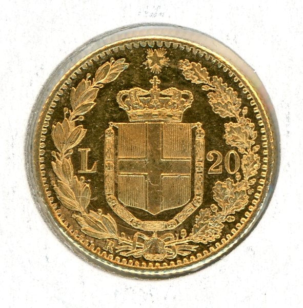 Thumbnail for 1882 Italy Gold 20 Lire