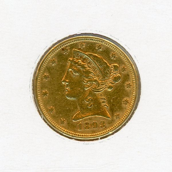 Thumbnail for 1893 USA Five Dollar