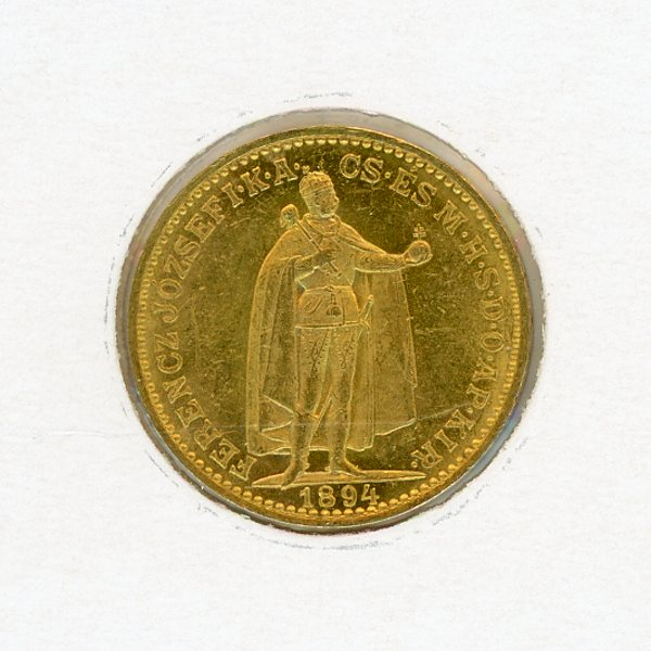 Thumbnail for 1894 Hungary 20 Korona aUNC
