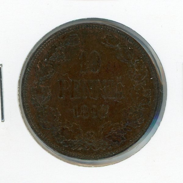 Thumbnail for 1897 Finland 10 Pennia gEF