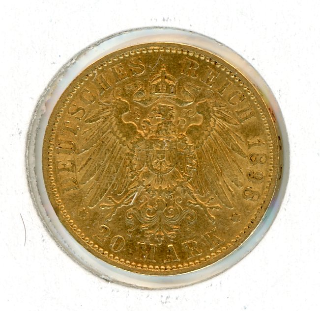 Thumbnail for 1898A German Gold 20 Marks