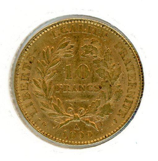 Thumbnail for 1899A France Gold 10 Francs