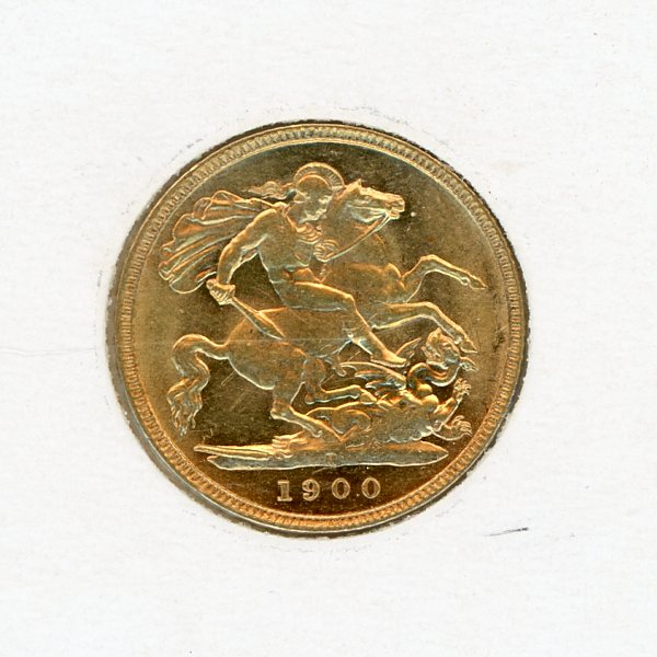 Thumbnail for 1900M Gold Half Sovereign aUNC