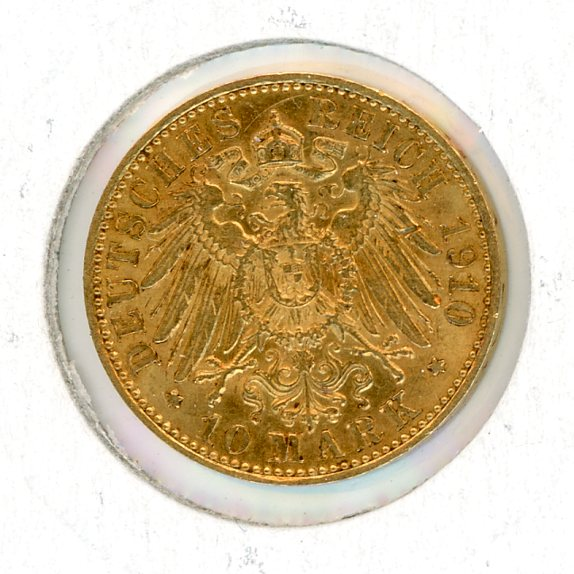 Thumbnail for 1910A German Gold 10 Marks