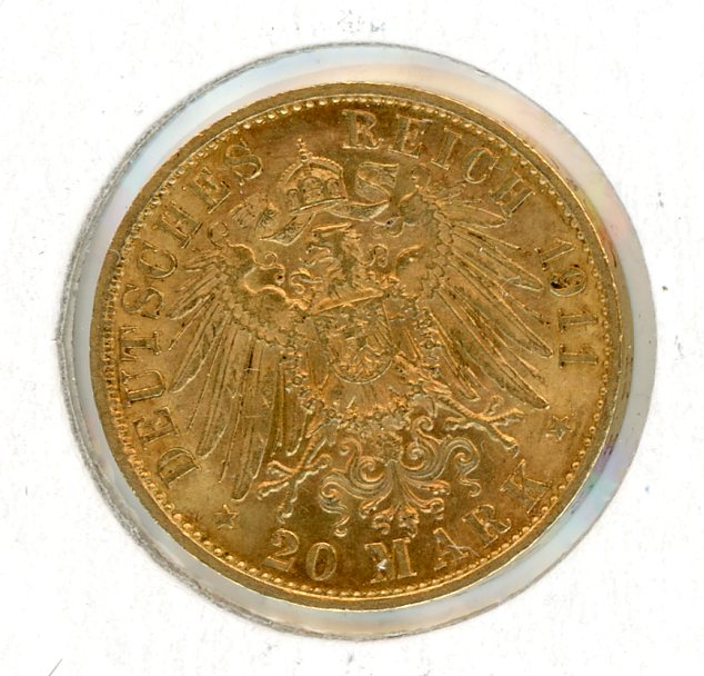 Thumbnail for 1911A German Gold 20 Marks