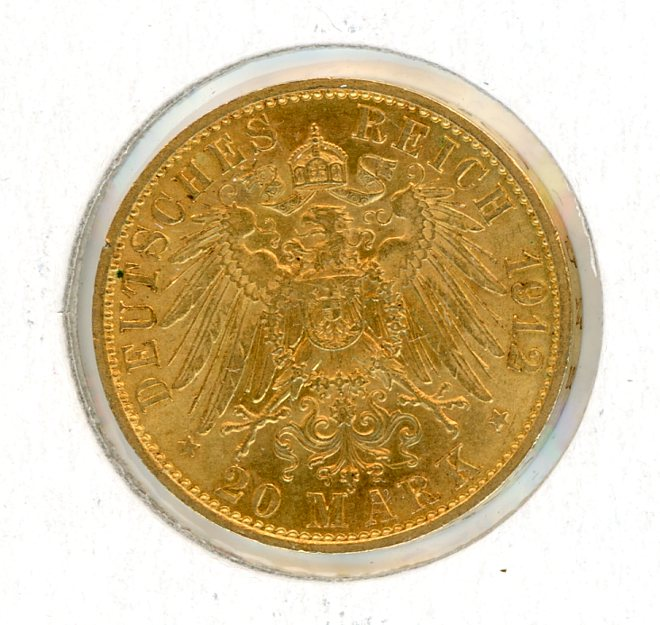 Thumbnail for 1912A German Gold 20 Marks