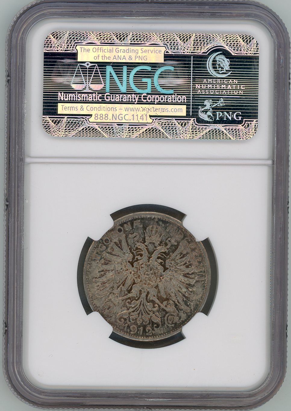 Thumbnail for 1912 Austria 2 Corona Slabbed NGC AU55
