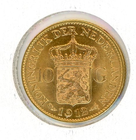 Thumbnail for 1912 Netherlands Gold 10 Gulden